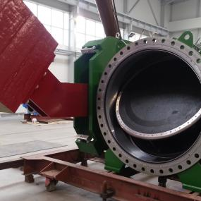Butterfly shutoff valves with backup seal - type BTV-B-M