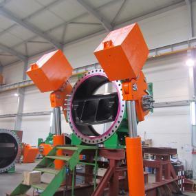 Дроссельные клапаны с двухплиточным диском типа BTV-B