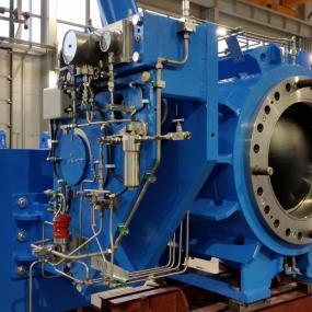 Vannes à boisseau sphérique avec turbine type SPV-3P-M